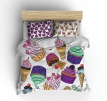 Постельное белье Мороженое Пироженое