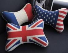 подголовники в машину-Флаги: США, Англия, Франция, Германия