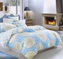 """2-х спальное постельное бельё-Евро """"Светлые мандалы на голубом"""""""