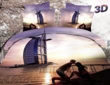 """2-х спальное постельное бельё """"Влюблённые и Дубаи"""""""
