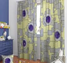 Классические шторы Аурин-К (серый)