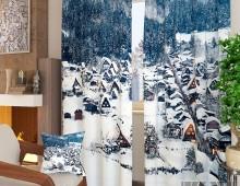 Фотошторы Зимняя деревушка