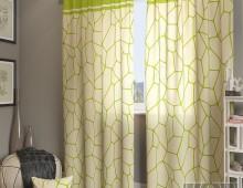 Классические шторы Приал-К (зеленый)