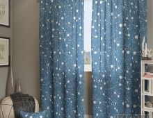 Классические шторы Эбис-К (синий)