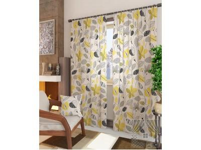 Классические шторы Амои-К (желтый), 401146