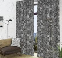 Классические шторы Аверон-К (графит)