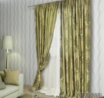 Классические шторы Амадей (зеленый)