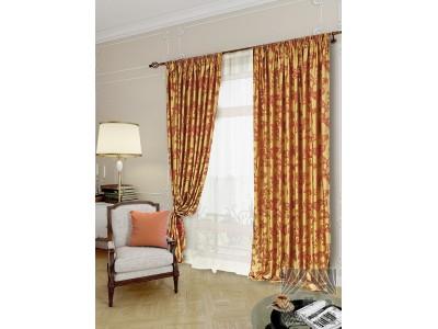 Классические шторы Аурель (бордо), 401552