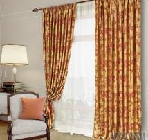 Классические шторы Аурель (бордо)
