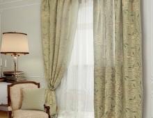 Классические шторы Джуно (серый)