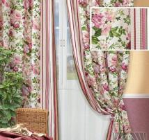 Классические шторы Антлия (бордо)