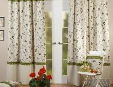 Классические шторы Ривьера (зеленый)
