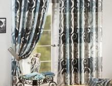 Классические шторы Одиссея (бирюзовый)