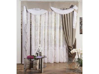 Классические шторы Аура (серый), 401219