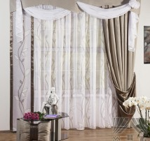 Классические шторы Аура (серый)