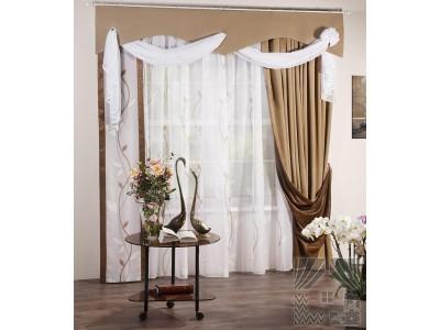 Классические шторы Аура (коричневый), 401603