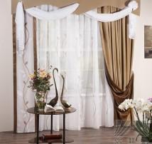 Классические шторы Аура (коричневый)