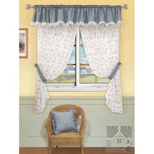 Классические шторы Бланко (синий), 401031 Постельное белье. Интернет-магазин Крейзи-Таун