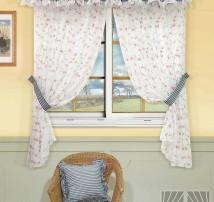 Классические шторы Бланко (синий)