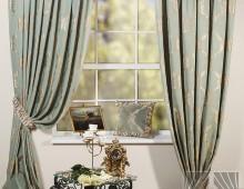 Классические шторы Лувр (зеленый)