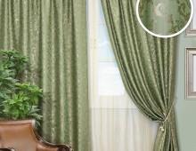 Классические шторы Лорио (зеленый)