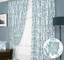 Классические шторы Дамва (голубой)