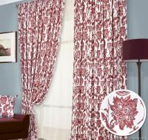 Классические шторы Дамва (красный)