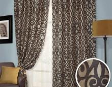 Классические шторы Батки (венге)