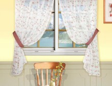 Классические шторы Бланко (бордо)