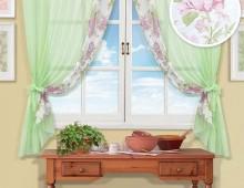 Классические шторы Витери (зелен.)