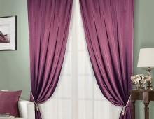 Классические шторы Сияно (слива)