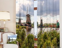 Фотошторы Мельницы у реки