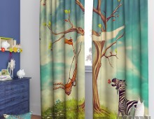 Фотошторы Жираф и зебра