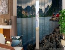 Фотошторы Дом у горного озера