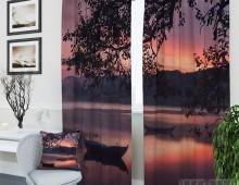 Фотошторы Закат у реки