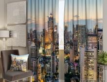 Фотошторы Вечерние небоскребы
