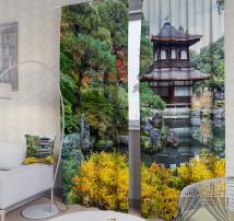 Фотошторы Восточный сад