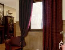 Классические шторы Дуктуа (бордо)