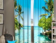 Фотошторы Райский бассейн