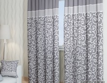 Классические шторы Илвин-К (серый)