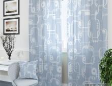 Классические шторы Кларк-К (голубой)