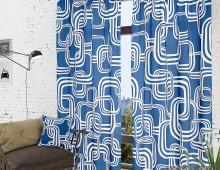 Классические шторы Тонга-К (синий)