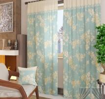 Классические шторы Вивида-К (голубой)