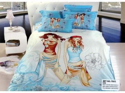 """Комплект постельного белья. Евро. """"Рыжеволосые девушки"""" , 300591"""