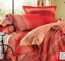 """Двуспальное постельное бельё-Евро """"Багровый цвет"""""""