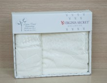 """Набор полотенец для лица и тела в подарочной упаковке 2шт. хлопок """"Virginia Seсret-белое"""""""