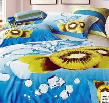 """2-х спальное постельное бельё (наволочки 50x70) """"Киви лимонад"""""""