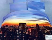 """2-х спальное постельное бельё-Евро """"Огни большого города"""""""