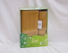 """Набор полотенец Sikel бамбук для лица и тела """"Горчичный"""""""
