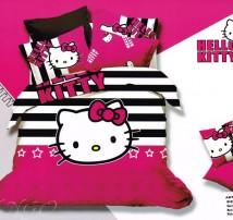 "Двухспальное постельное бельё -Евро ""Hello Kitty розовое"""